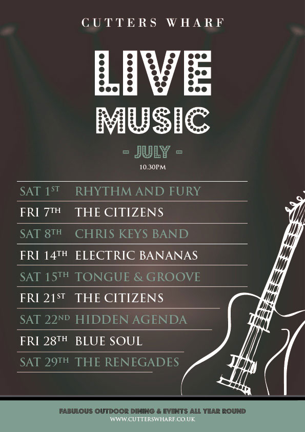 Cutters Live Music July