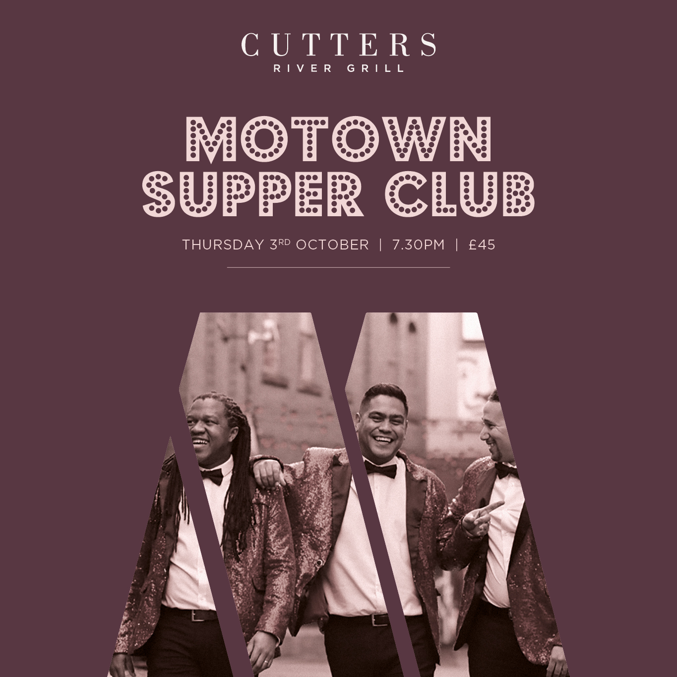Cutters River Grill Motown Supper Club 3 Oct 2019 Social WEB